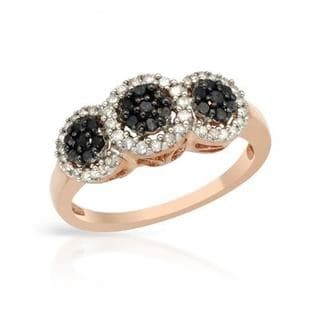 Ring with 0.50ct TW Genuine Diamonds in Rose Gold