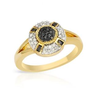 Ring with Diamonds Yellow Gold