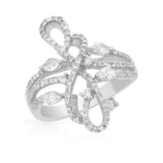 18K White Gold 1ct TDW Diamond Ring