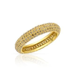 Yellow Gold-plated Silver 1.47ct TDW Diamond Wedding Band