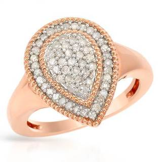 Ring with 0.55ct TW Diamonds of Rose Gold