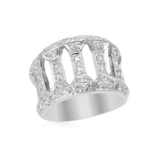 Ring with 0 3/4ct TW Diamonds of 18K White Gold