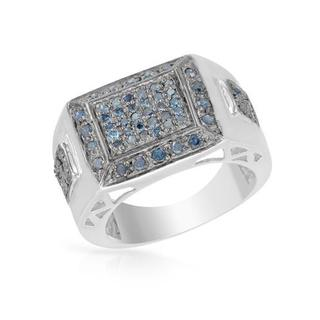 Ring with Genuine Diamonds in 925 Sterling Silver