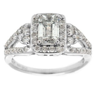 14K White Gold 1.75ct TDW Diamond Ring
