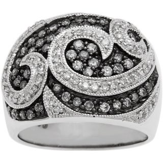 Ring with 1.00ct TW Genuine Diamonds 925 Sterling Silver