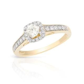 Two-tone Gold 0.65ct TDW Diamond Engagement Ring