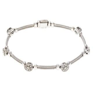 Pre-owned Charriol 18k white gold and Diamond Bracelet