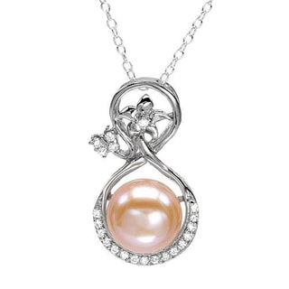 Sterling Silver 1/2ct TGW 10.5 mm Freshwater Pearl Necklace