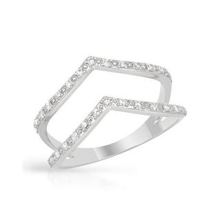 Vida Ring with Diamonds White Gold