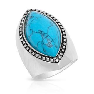 Lauren G. Adams Ring with Created Turquoise .925 Sterling Silver