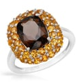 4.8-carat Citrines/ Topaz in Sterling Silver Ring