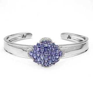 Bracelet with 5.05ct TW Sapphires and Tanzanites in .925 Sterling Silver