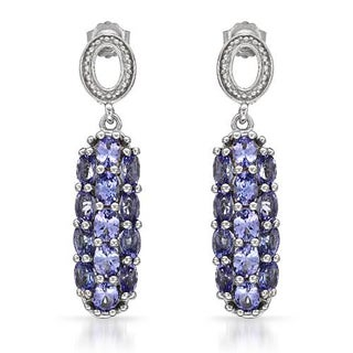 Earrings with 4.42ct TW Tanzanites .925 Sterling Silver