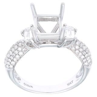 Semi-mount Ring in 18K White Gold