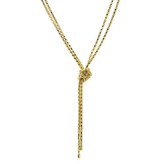 14K Gold-plated Silver Knot Necklace