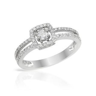 14k White Gold 0.52ct TDW Diamond Engagement Ring