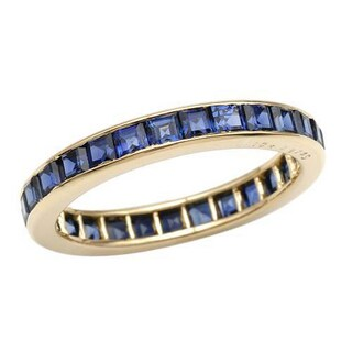 OSCAR HEYMAN Eternity Ring with 2.27ct TW Sapphires 18K Yellow Gold