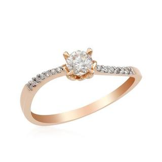 14k Rose Gold Diamond Engagement Ring