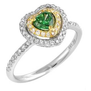 Ring with 0 3/4ct TW Diamonds in 14K Two-tone Gold