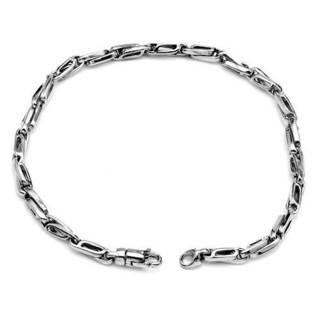 Men's Bracelet 14K White Gold