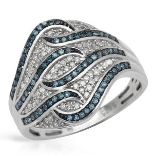 Ring with 0.50ct TW Genuine Diamonds 925 Sterling Silver