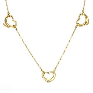 Pre-Owned Elsa Peretti 18k Yellow Gold 3-heart Necklace
