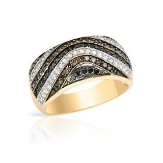 Ring with 0.75ct TW Diamonds Crafted in 14K Yellow Gold