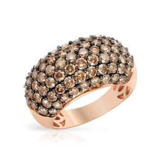 Ring with 4.18ct TW Diamonds Crafted in 14K Rose Gold