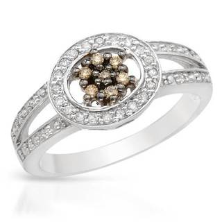 Ring with Diamonds 14K White Gold