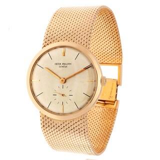 Pre-owned Patek Philipe 18k Yellow Gold 1920-1970 Swiss Mechanical Watch