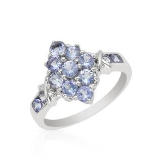 Ring with 1.42ct TW Tanzanites in White Gold