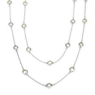 Necklace with 7.65ct TW Genuine Quartz in 925 Sterling Silver
