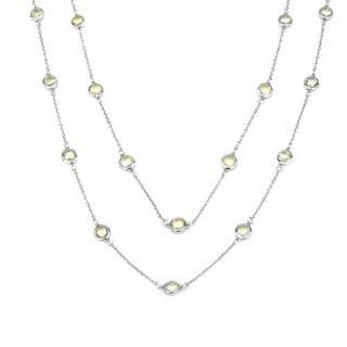 Sterling Silver Quartz Gemstone Necklace
