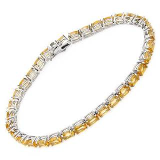 Tennis Bracelet with 13.2ct TW Citrines in 925 Sterling Silver