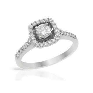 14k White Gold 1.18ct TW Diamond Engagement Ring