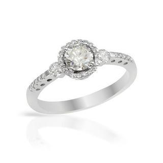 14k White Gold 0.85ct TDW Diamond Engagement Ring