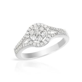 14k White Gold 0.53ct TDW Diamond Engagement Ring