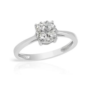 Ring with 0.50ct TW Genuine Diamonds of 14K White Gold