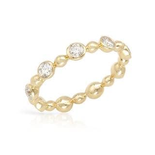Eternity Ring with 0.87ct TW Genuine Diamonds in 14K Yellow Gold