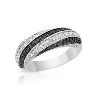 Ring with Genuine Diamonds 925 Sterling Silver
