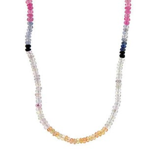 Necklace with 59.55ct TW Genuine Sapphires of 18K Yellow Gold