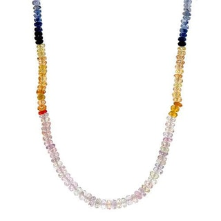 Necklace with 54.85ct TW Genuine Sapphires in 18K Yellow Gold