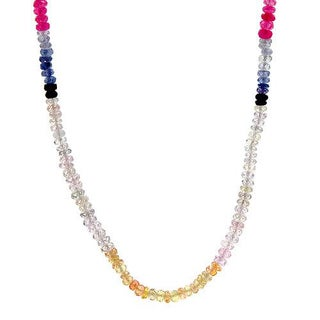 Necklace with 60.70ct TW Genuine Sapphires in 18K Yellow Gold