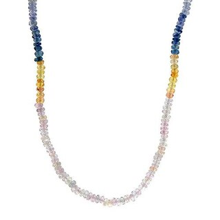 Necklace with 43.65ct TW Genuine Sapphires in 18K Yellow Gold