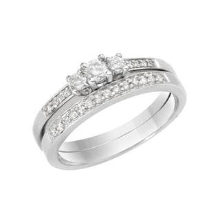 14k White Gold Diamond Bridal Set