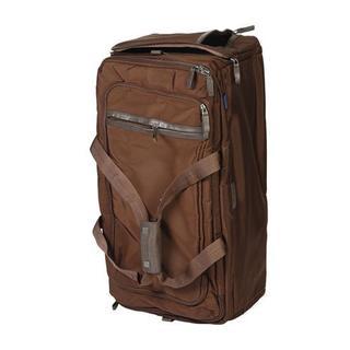 PIQUADRO Brown Nylon 25-inch Rolling Duffel Bag