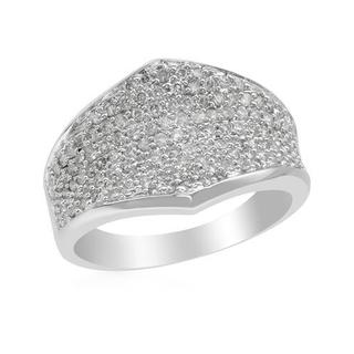 Ring with 0.72ct TW Diamonds Crafted in 18K White Gold
