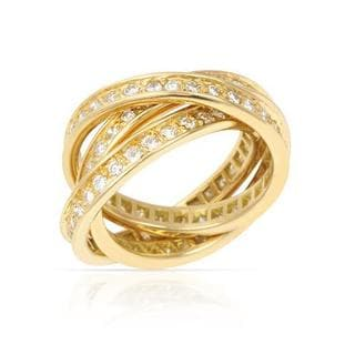 Pre-owned Cartier 18k Yellow Gold 1 3/4ct TDW Diamond Ring