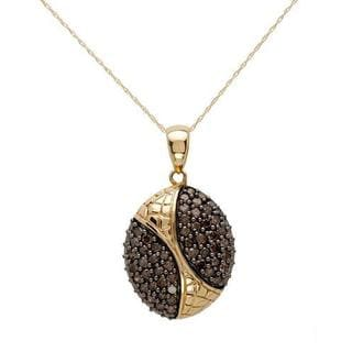 14k Yellow Gold FPJ 1.95ct TW Brown Diamond Necklace