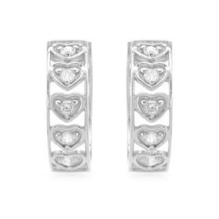 14k White Gold .30ct TDW Diamond Hoop Earrings (H-J, I1-I2)